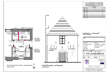 Part of the proposed alterations from the approved Planning Application