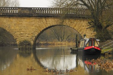 Barge at toll bridge - Photographer Sue Osborne