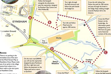 Wharf Stream Way overview map - Photographer West Oxfordshire District Council