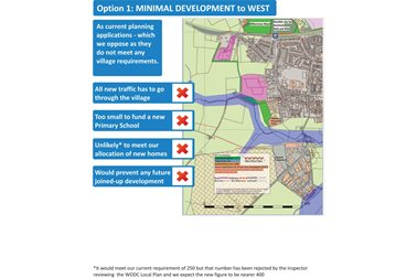 Option 1: Minimal Development To West