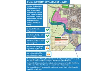 Option 3: Modest Development To West