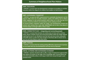Summary Neighbourhood Plan Policies 06-10