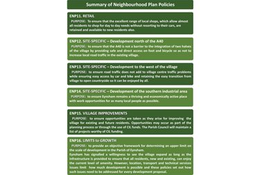 Summary Neighbourhood Plan Policies 11-16
