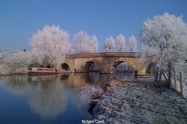 The bridge with frost